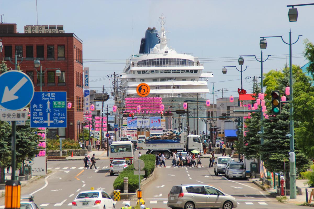 小樽港第3号ふ頭_クルーズ客船飛鳥Ⅱ