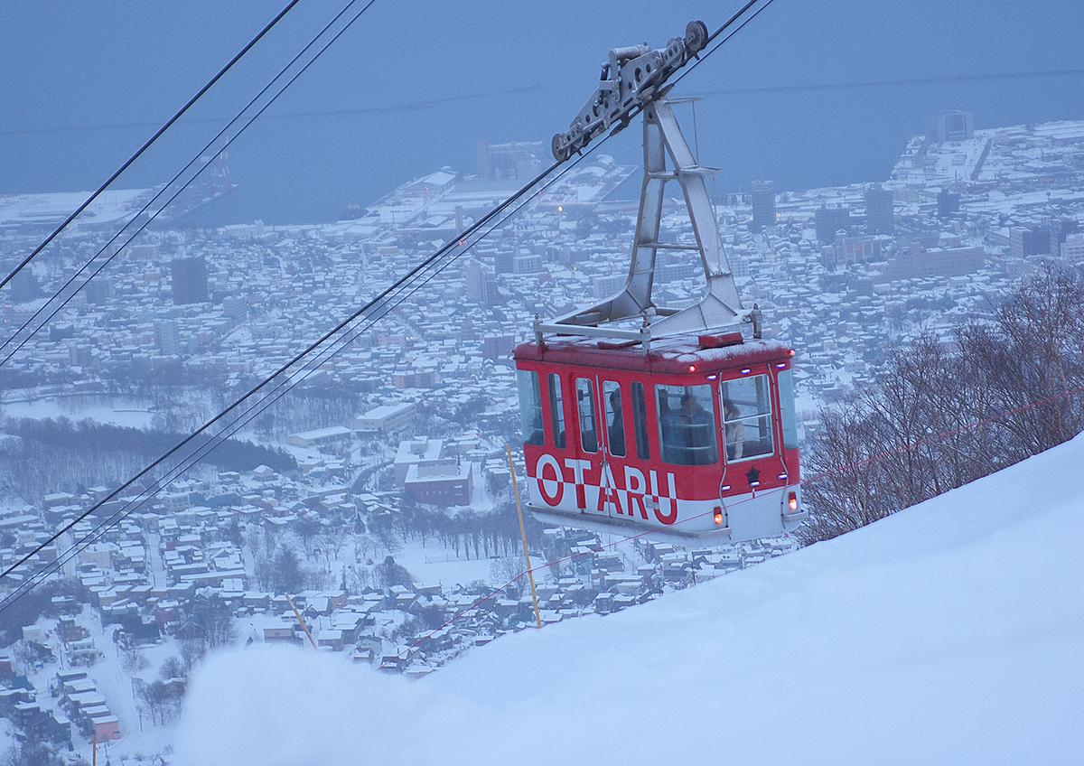 天狗山の山頂のスノーパーク